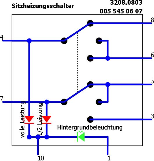 Electric Rocken - Mercedes Vito w638 Schalter
